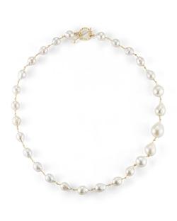 Mizuki  - Single-Strand Pearl Necklace