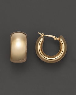 Bloomingdales - Gold Wide Band Polished Hoop Earrings