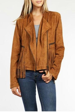 Very J - Suede Fringe Jacket