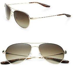 Barton Perreira  - Lovitt Round Metal Aviator Sunglasses