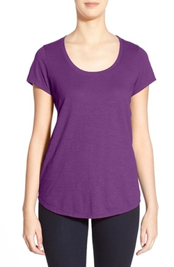 Eileen Fisher - Organic Cotton Scoop Neck Tee Shirt