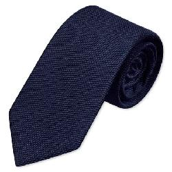 Charles Tyrwhitt - Woven plain navy tie