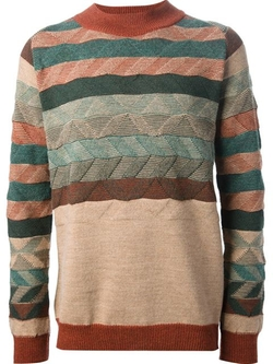 White Mountaineering - Striped Jumper
