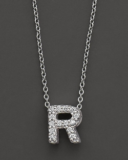 "Roberto Coin  - ""Love Letter"" Initial Pendant Necklace"