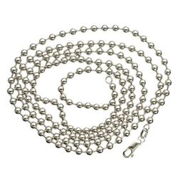 Gold-Chains - Solid Ball Chain Necklace