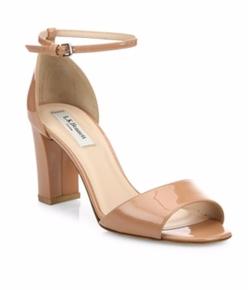 L.K. Bennett - Leather Block-Heel Sandals
