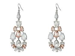 Guess  - Stone Cluster Chandelier Earrings