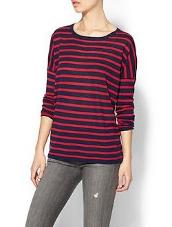 Sundry Clothing, Inc. - Striped Cashmere Crewneck Top