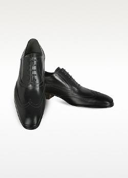 Moreschi - Black Leather Oxford Shoes