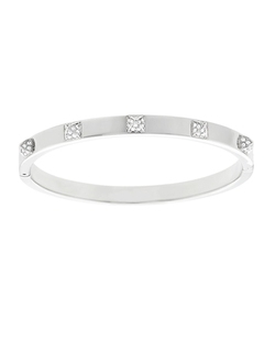 Swarovski - Crystal & Silvertone Bangle Bracelet