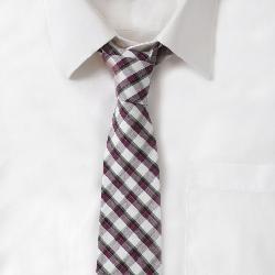 Maxton Men - Cotton Purple & Green Plaid Tie