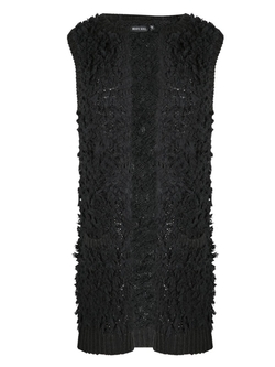 Envy Boutique - Tail Knitted Open Cardigan