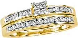 Rings-MidwestJewellery.com - Diamond Invisible Wedding Ring Sets