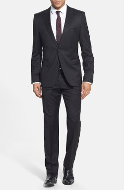 Hugo  - Extra Trim Fit Wool Suit