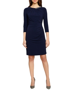 Tahari Arthur S. Levine - Ruched Stretch Jersey Dress
