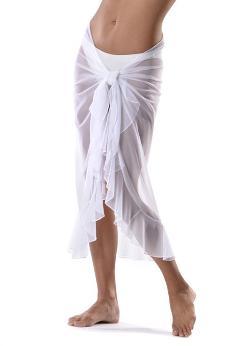 La Palapa  - Cojimar Swimwear Long Mesh Ruffle Sarong