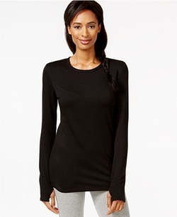 Cuddl Duds Comfortwear - Long Sleeve Crew Thumbhole T-Shirt