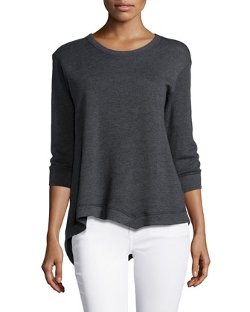W by Wilt - 3/4-Sleeve Asymmetric Sweatshirt