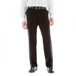 IZOD - Flat-Front Dress Pants