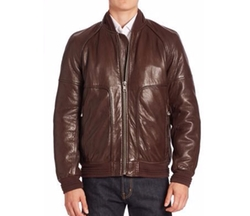 Andrew Marc - Hughes Leather Fur-Lined Moto Jacket