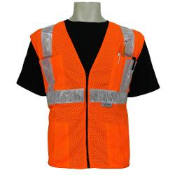 Global Glove - FrogWear Class 2 High Visibility Front Mesh Safety Vest