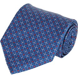 Brioni - Medallion & Diamond-Pattern Neck Tie