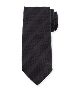 Tom Ford - Textured Diagonal-Stripe Silk Tie