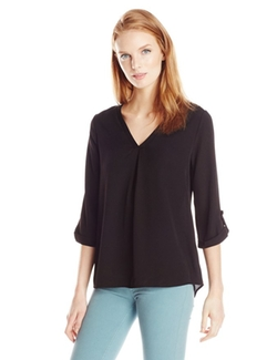 Everly - Solid Woven Blouse