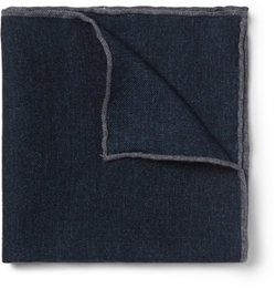Brunello Cucinelli   - Mélange Wool Pocket Square