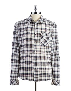 Rogue State - Plaid Button-Down Shirt