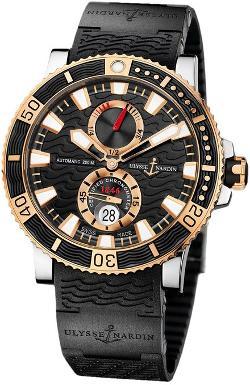 Ulysee Nardin  - New Mens Ulysse Nardin 18k Rose Gold Maxi Marine Diver Titanium Watch