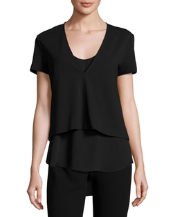 Theory  - Zadeia Fixture Short-Sleeve Top
