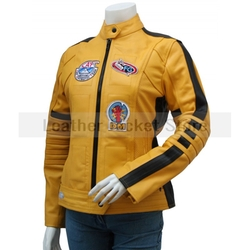 Leather Jacket Store - Kill Bill Women Biker Leather Jacket