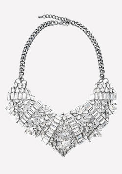 Bebe - Lavish Crystal Bib Necklace