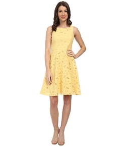 Maggy London - Stylized Daisy Lace Fit & Flare Dress