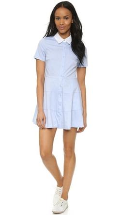 Re:named - Contrast Collar Shirtdress