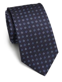 Salvatore Ferragamo - Gancini Woven Silk Tie