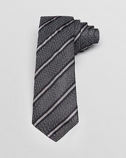 Theory  - Dorsett Stripe Herringbone Skinny Tie