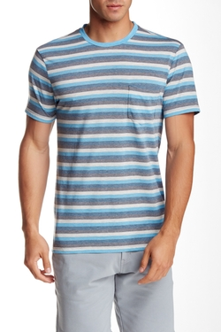 Slate & Stone  - Striped Crew Neck T-Shirt