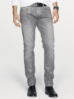 Black Label Denim  - Slim-Fit Metallic Jean