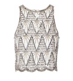 W118 By Walter Baker - Charlotte Embellished Tulle Top