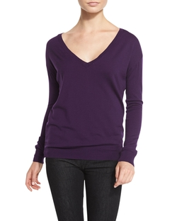 Ralph Lauren Collection - Easy Merino V-Neck Sweater