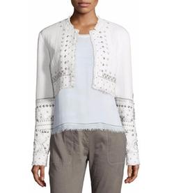 Elie Tahari - Doris Embellished Cropped Jacket