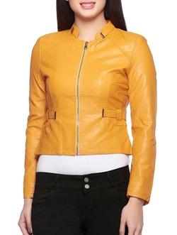 Leather World Ltd. - Moto Genuine Lambskin Leather Jacket