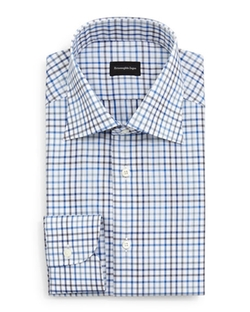 Ermenegildo Zegna  - Box Check Dress Shirt