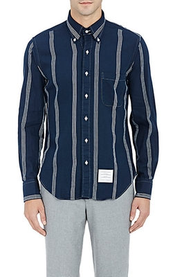 Thom Browne  - Striped Flannel Shirt