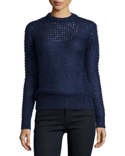 Michael Kors Collection  - Long-Sleeve Hand-Knit Sweater