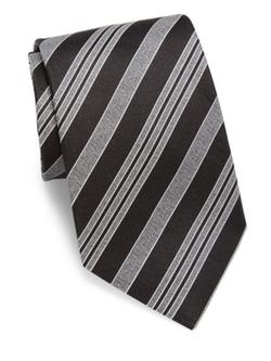 Giorgio Armani  - Multi-Striped Slim Silk Tie
