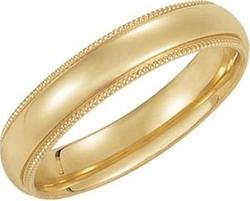 Jewelplus - Comfort-Fit Milgrain Ring