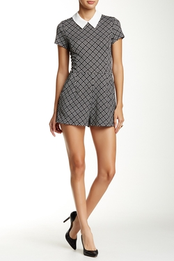 Eight Sixty  - Short Sleeve Geo Romper